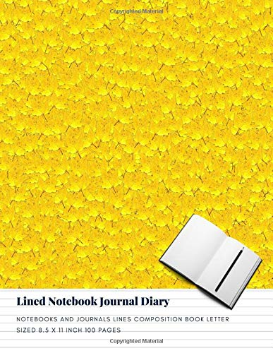 Lined Notebook Journal Diary: Notebooks And Journals Lines Composition Book Letter sized 8.5 x 11 Inch 100 Pages (Volume 34)