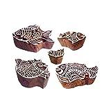 Royal Kraft Städtisch Muster Sortierte und Fisch Holz Drucken Stempel (Set von 5)