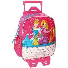 d2c14aeb41 Disney Le Principesse Zaino Trolley Asilo con Due Ruote per Bambini  Portapranzo Viaggio Tempo Libero