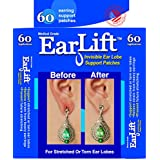 EarLift -Made In U.S.A.-Invisible Ear Lobe Support Waterproof Medical Patches - 60 Patches