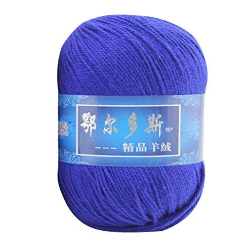 samLIKE 1pc weiches Kaschmir-Garn Handgestrickte mongolische Woolen DIY Weave Thread (F) (Mongolischen Kaschmir-garn)