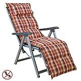 Auflagen mit Kopfpolster für Relax Liegestuhl Miami 10480-300 (ohne Relax)