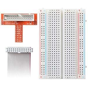 XCSOURCE® Kit GPIO câble d'extension T-Cobbler Breakout Pour Raspberry PI + 26 Pin Extension câble ruban plat TE166