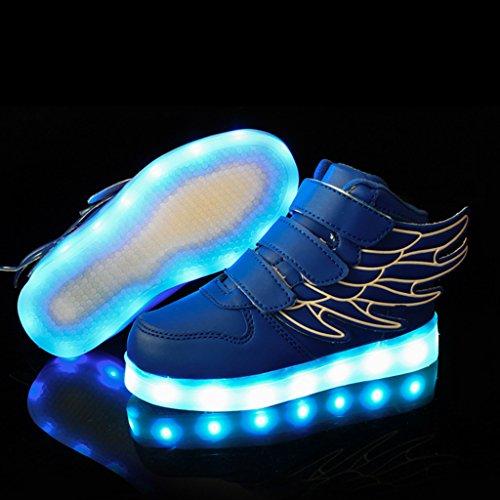 11178cb22dfcb ... DoGeek LED Schuhe Kinder Damen 7 Farbe USB Aufladen Leuchtend  Sportschuhe Led Kinder Farbwechsel Sneaker Turnschuhe ...