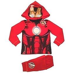 Marvel Pijama dos piezas - Manga Larga - para niño Rojo Iron Man Dress Up 2-3 años