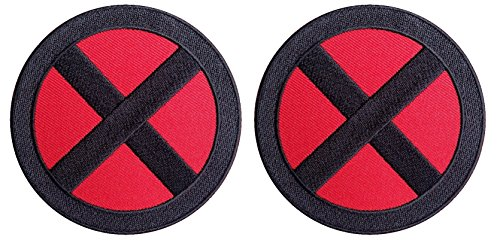 x-men-storm-red-black-cross-x-logo-movie-patch-iron-on-conjunto-2-parches-bordados-termoadhesivos