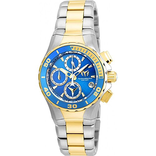 technomarine-womens-manta-gold-tone-steel-bracelet-case-quartz-blue-dial-analog-watch-tm-215053