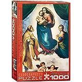 Eurographics 01211 Raffaello: Madonna Sistina, Puzzle, 1000 Pezzi