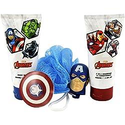 Avengers - Marvel Capitán América de los Vengadores Set de Regalo Infantil - 3 Piezas