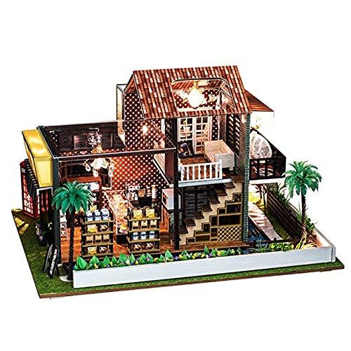 fee Puzzle Handmade Toys Doll House Miniature Kits Playset für Kinder und Erwachsene Weihnachtsgeburtstag Geschenk-Legende der Blauen See ()