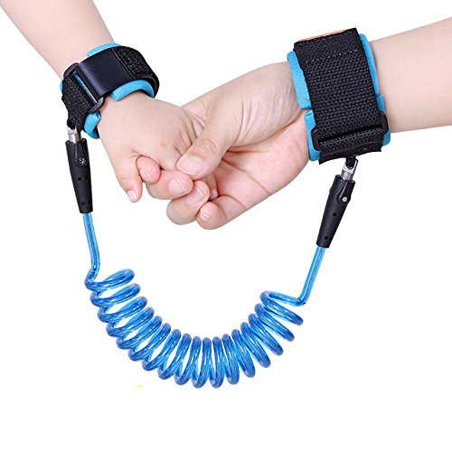 Asier Anti Lost Wrist Strap for Child & Babies Toddler Safety, Harnesses & Leashes Walking Hand Belt Straps Link 2.5 Meter ( 8.2 foot) (Blue)