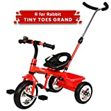 R for Rabbit Tiny Toes Grand Baby/Kids Cycle - Smart Plug & Play Baby Tricycle for Kids/Baby for 1.5 to 5 Years (RED)