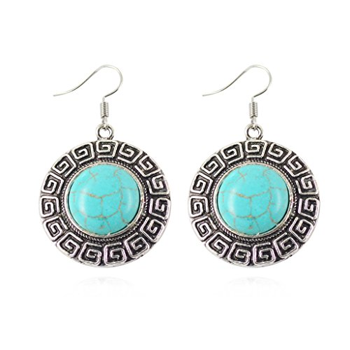 Jiayiqi Femmes Forme Multi Turquoise Unique Rimous Pendants D'oreilles Haute Joaillerie J0951