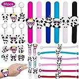 SPECOOL Panda Slap Bracelets Silicona Pulsera Bofetada Llaveros, Anillos, Marcadores, Fiesta Cumpleaños de Infantil Rellenos de Bolsa de Fiesta para niños niñas