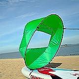 42 Zoll Kajak Windsegel Wind Paddel Downwind Kajaksegel Kanu Zubehör Kompakt&Tragbar ( Farbe : Grün )