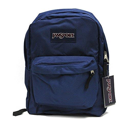 JanSport Mochila Superbreak Azul Marino para la escuela, Trabajo o jugar