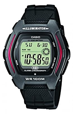 CASIO HDD-600-1AVEF - Reloj de caballero de cuarzo, correa de resina color negro