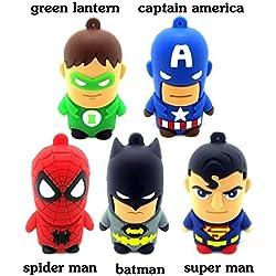 ARBUYSHOP 2.0 stylo lecteur USB de mémoire flash drive bâton 4GB 8GB 16GB 32GB 64GB Avengers Captain America Super Araignée batman 1Go 2Go Cartoon