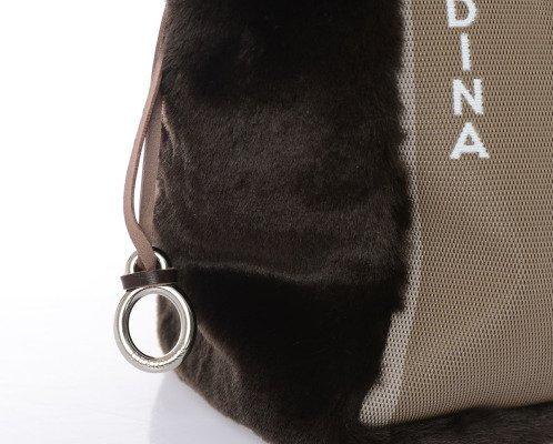 Brandina The Original , Sac pour femme à porter à l'épaule Multicolore - Favignana/Marrone