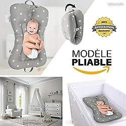 BELINIA PRESTIGE- Lit bébé - Lit de voyage pour bébé- Lit bébé pliable multifonction DESIGN (grey)