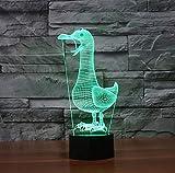 Uccello Acrilico Colomba Luce Notturna 3D LED Colorato Gradiente USB Lampada Da Tavolo Tortino Lampada Da Scrivania Decorazioni Per La Casa Baby Illuminazione Del Sonno Regali Per Bambini