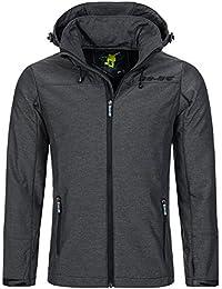 98-86 Herren H6829Y43094A Softshell-Jacke Outdoor Übergangsjacke mit Kapuze aus winddichtem und hochwertigem Material