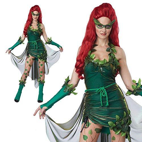 XSQR Halloween Karneval Sexy Königin Stripper Grüne Elfe Cosplay Tanzkostüm Kleid,Green,L (Grün Kleid Elfen)