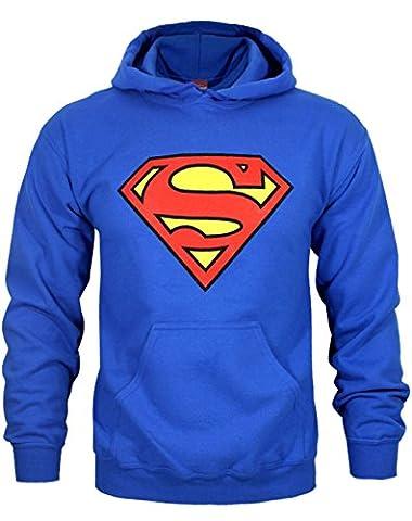 DC Comics Men's Superman Logo Hoodie XX-Large Royal Blue