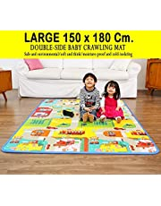 YOZO Play mat Baby mats Waterproof Large Size Double Side Big Soft (6 Feet X 5 Feet) Crawl Floor Matt for Kids Picnic School Home with Zip Bag to Carry