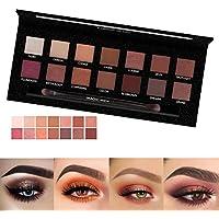 Paleta de sombras de ojos 14 colores de sombra de ojos en polvo maquillaje a prueba de agua sombra de ojos paleta de cosméticos por Pretty Comy
