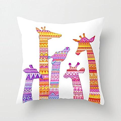 Cuscino decorativo custodia in tela ropical Natale Flamingo Babbo Natale Protezioni Cuscino 18x 18, 50% cotone/50% poliestere/ in cotone/poliestere, color#34, 45 cm