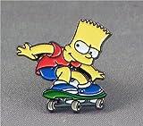 Mainly Metal 'de metal pin, esmaltado, diseño de: Bart Simpson (de la serie de TV Simpsons).