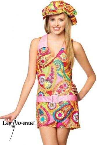 Leg Avenue - Groovy Hipppie Kostüm - J48026, Farbe:Mehrfarbig;Groesse:ML