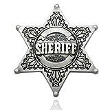 Q & Q Argenté Vintage Fashion Homme Western Texas shérif Ranger Cop Star Badge Rodeo boucle de ceinture