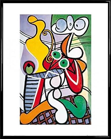 Pablo Picasso Poster Kunstdruck und Kunststoff-Rahmen - Nature Morte (50 x 40cm)