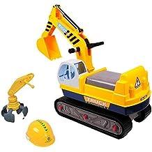 deAO Correpasillos Diseño Camión de Construcción Vehículo con Excavadora Manual