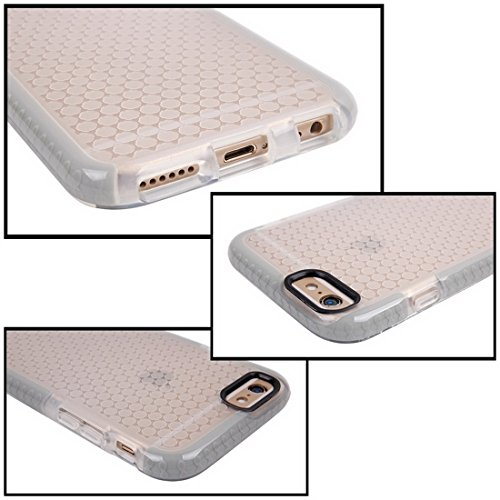 Wkae Case & Cover Pour le cas de protection iPhone 6 &6s Honeycomb Texture TPU ( Color : White ) Grey