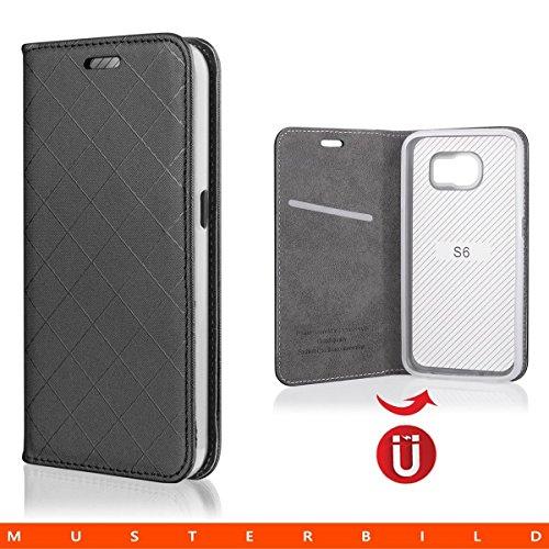Ego ® étui de protection à rabat pour samsung iPhone étui de porte avec fermeture aimantée, Plastique, gris, für iPhone 6 noir