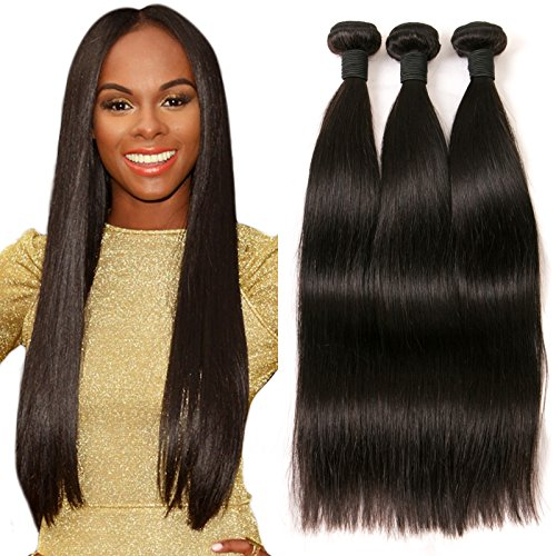 DAIMER Brazilian Straight Virgin Hair 16 18 20 Inch 3 Bundles Unprocessed...