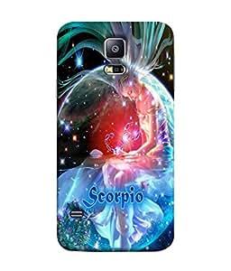 PrintVisa Designer Back Case Cover for Samsung Galaxy S5 :: Samsung Galaxy S5 G900I :: Samsung Galaxy S5 G900A G900F G900I G900M G900T G900W8 G900K (Bright Illustration Backdrop Shine Texture Horoscope)