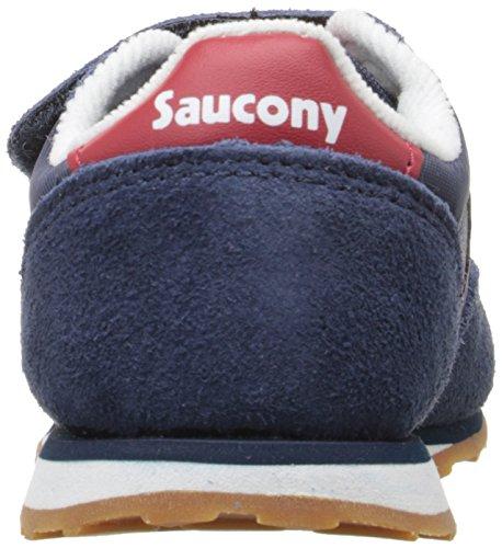 Saucony Boys Baby Jazz unisex bambino, pelle scamosciata, sneaker bassa Blu Navy/Rosso