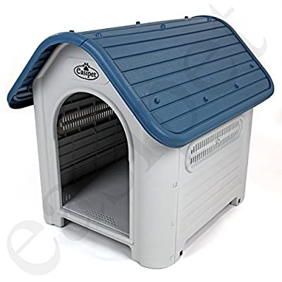 Easipet Weatherproof Plastic Dog Kennel for Indoor and Outdoor from Easipet