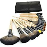 SunJas profesional 24 pcs/set Pinceles – Cepillo de maquillaje/Brush cosmética belleza & make-up mango Make Up Brush Pincel Cosmética