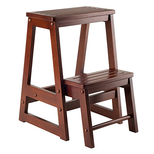 Price comparison product image Winsome 94022 - Folding Step Stool - Walnut Solid - Composite Wood