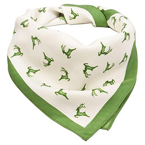 Alpenflüstern Damen Trachten-Nickituch Springende Hirsche ATX03700050 grün