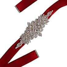 Gespout Cintura Cinturón Cintura Cinturón Paño Niña Mujer Vestir Ropa Jeans  Elásticos Brillante Belt Rhinestone 23.5 02d66a5df2db