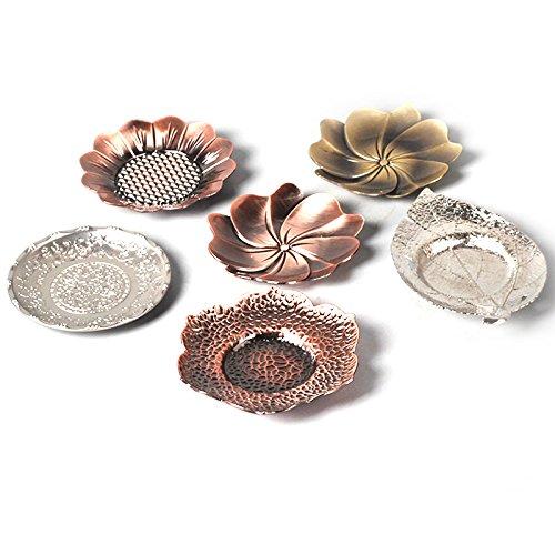 Preisvergleich Produktbild Yiwa Teematten Tee Bronze Silber Zink Legierung Metall Untertasse Untersetzer