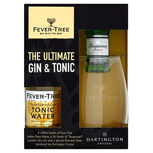 Fever Tree Tanqueray The Ultimate Gin & Tonic With Glass, 4.17 cl