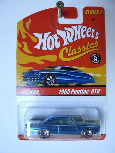 hot-wheels-classics-1965-pontiac-gto-light-blue-with-white-hood-stripes-red-line-tires-series-1-2-of