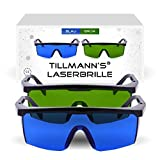 Laserbrille mit Seitenschutz und Beutel | 2er Schutzbrillen Set | Haarentfernung | Schützt Ihre Augen vor Laserstrahlen | Augenschutzbrille | Laserschutzbrille in 1A Qualität von Tillmann's